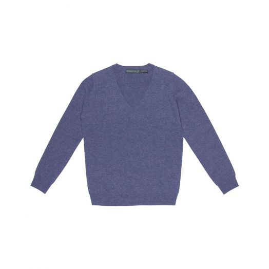 Ireland's Eye | Luxe V Neck Sweater A734 - Deep Lavender