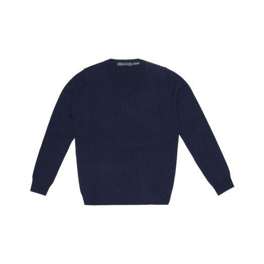 Ireland's Eye | Luxe V Neck Sweater A734 - Navy