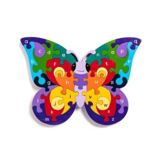 Alphabet Jigsaws   Alphabet Butterfly Jigsaw Puzzle