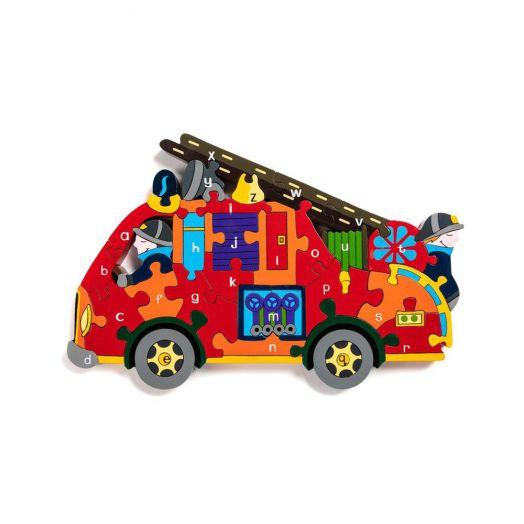 Alphabet Jigsaws   Alphabet Fire Engine Jigsaw