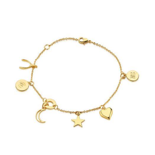 Newbridge Silverware   Amy Huberman Gold Multi Charm Bracelet