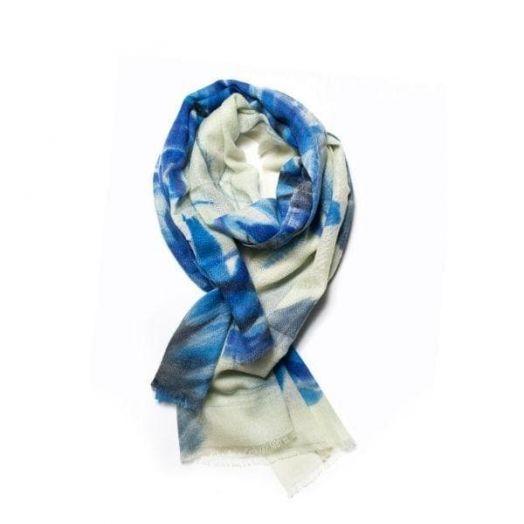 Galway Crystal | Atlantic Blue Merino Wool Scarf