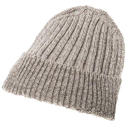 Aran Woollen Mills | Ribbed Wool Hat - Toast Oat