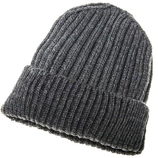 Aran Woollen Mills | Ribbed Wool Hat B415- Slate Grey