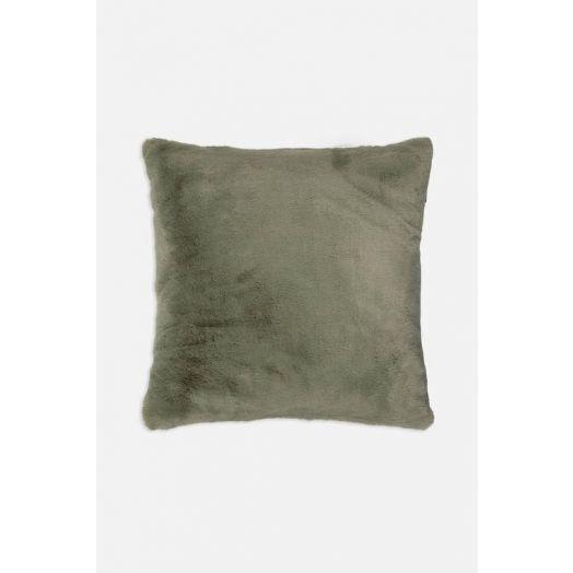 Rino & Pelle | Barocco Faux Fur Cushion -Mistletoe Green