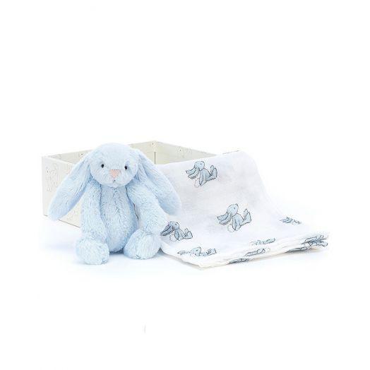 Jellycat | Bashful Blue Bunny Gift Set