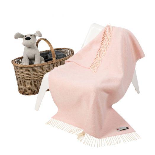 John Hanly | Cashmere Baby Blanket-  Pink