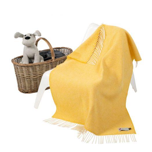 John Hanly | Cashmere Baby Blanket-  Yellow