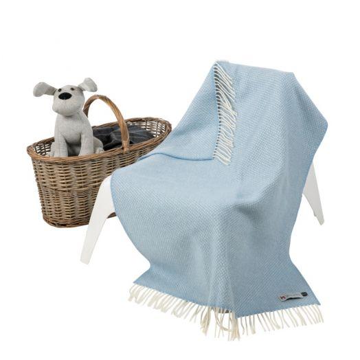 John Hanly | Cashmere Baby Blanket- Blue