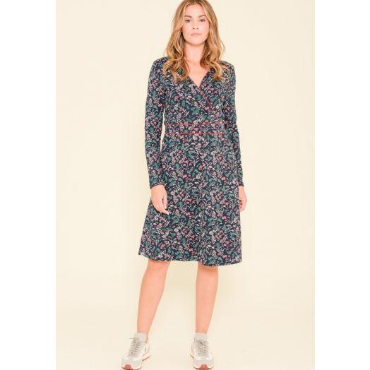 Brakeburn | Winter Botanical Wrap Dress