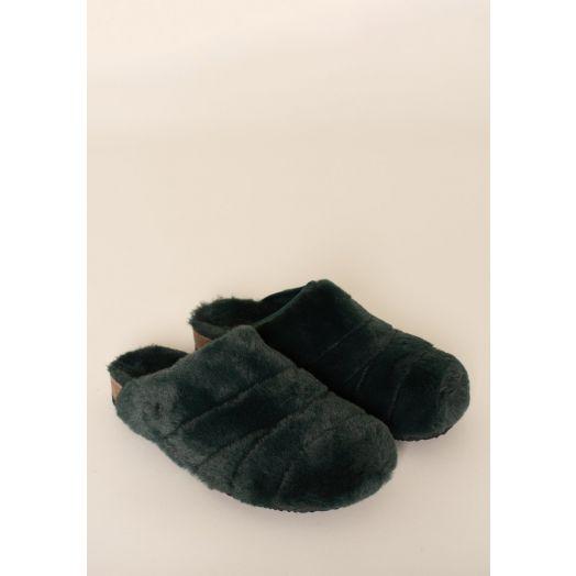 Brakeburn | Fluffy Slippers - Emerald