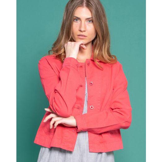 Brakeburn | Cotton Canvas Jacket- Pink