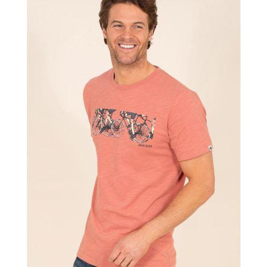 Brakeburn | Peloton Graphic T-Shirt- Pink
