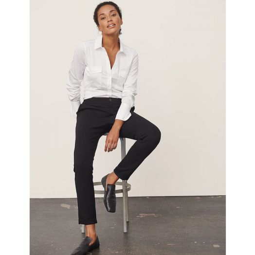 Part Two | Casual Straight Trousers -Black