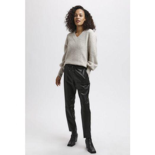 Kaffe | Kavilla Pleather Trousers - Black
