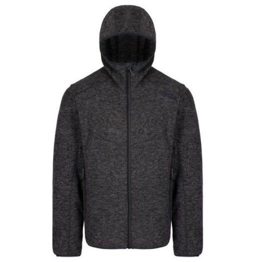 Regatta   Luzon Hooded Wool Effect Fleece-Black