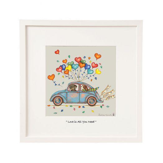 Belinda Northcote | Love is All You Need Frame Art 12x12