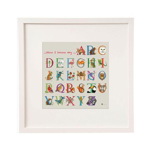Belinda Northcote | I Know My ABC Framed Art- 12x12