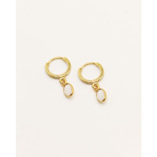 Nilai | Gaia Earrings - White