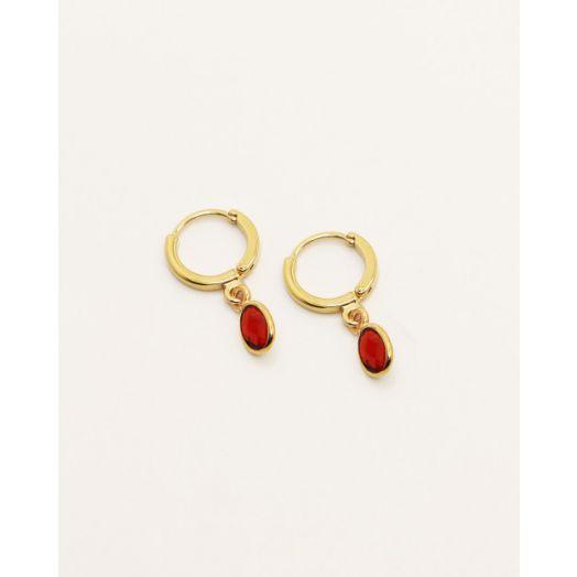 Nilai | Gaia Earrings - Garnet
