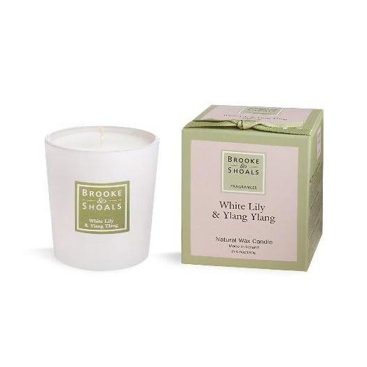 Brooke And Shoals | White Lily And Ylang Ylang Candle - Small