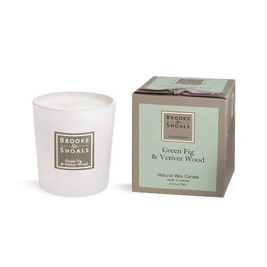 Brooke And Shoals | Green Fig And Vetiver Wood Candle - Small