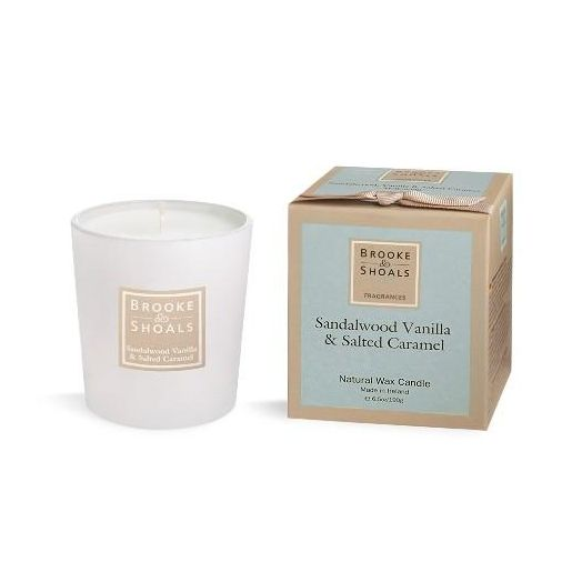 Brooke And Shoals | Sandalwood Vanilla And Salted Caramel Candle - Small