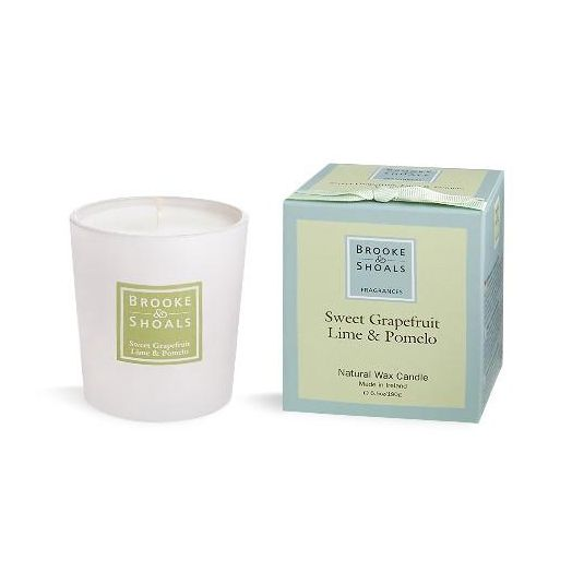 Brooke And Shoals | Sweet Grapefruit And Lime Candle - Small