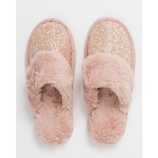 Pia Rossini | Christa Sparkly Slippers- Pink