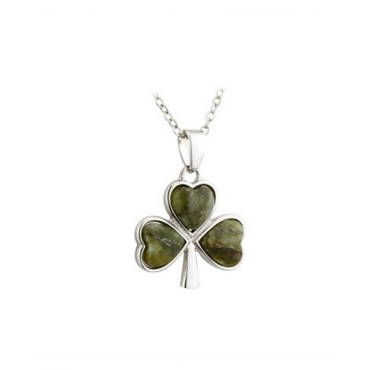 Solvar | Connemara Marble Shamrock Pendant