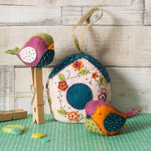 Corinne Lapierre   Birdhouse And Two Birds
