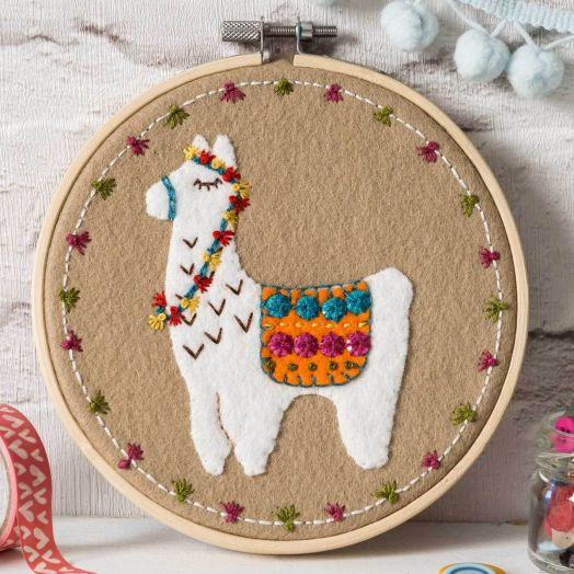 Corinne Lapierre   Llama Applique Hoop Kit