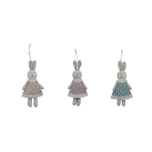 Isabelle Rose | Textile Rabbit Set of 3 - 18cm