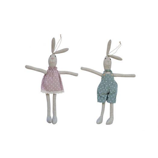 Isabelle Rose | Textile Rabbit Set of 2 - 42cm