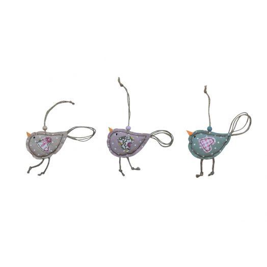 Isabelle Rose | Textile Bird Set of 3 - 18cm