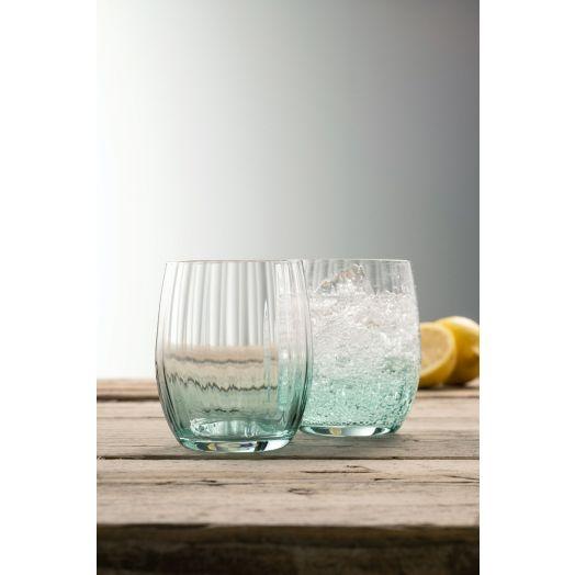 Galway Crystal | Erne Tumbler Aqua Set Of 2