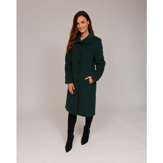 Christina Felix | Peter Pan Collar Wool Coat -Green