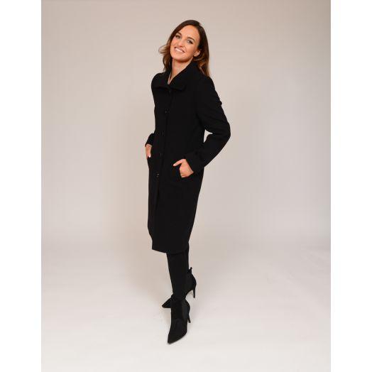 Christina Felix | Peter Pan Collar Wool Coat -Black