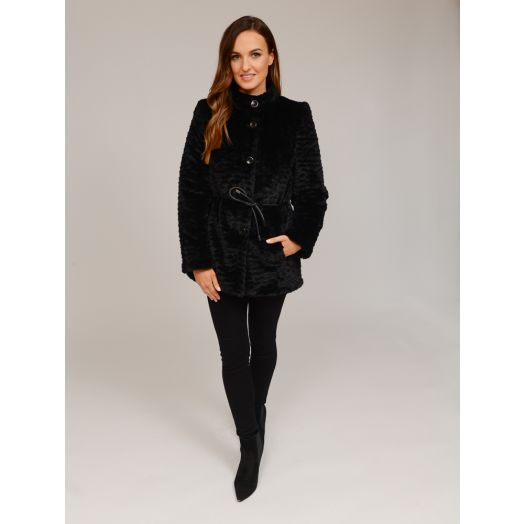 Christina Felix | Fux Fur Jacket- Black