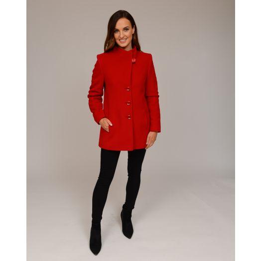 Christina Felix | Short Wool Coat-Red