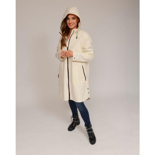 Ilse Jacobsen | Softshell Raincoat 128- Sugar White