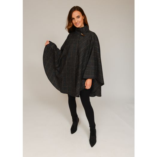 Jimmy Hourihan | 100% Wool Tweed Cape with Toggle