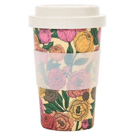 Eco Chic | Peonies Bamboo Cup