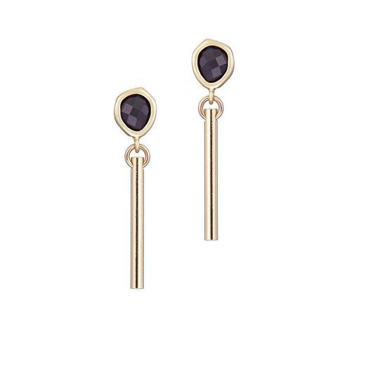 Scribble and Stone | Mini Glass Pendulum Earrings