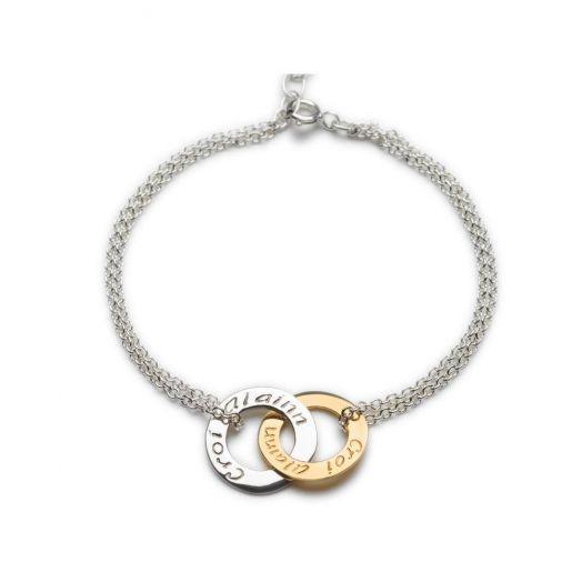 Enibas | Croí Álainn | Two Tone Double Bracelet