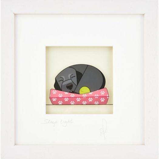 Black Hen Designs | Sleep Tight - Black, Framed Art
