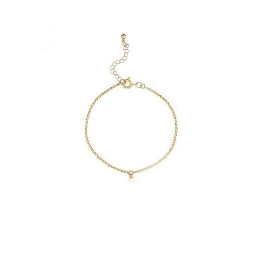Scribble and Stone | 14kt Goldfill Mini Disc Bracelet