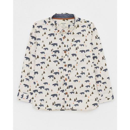 White Stuff | Bear With Me Shirt - White Multi