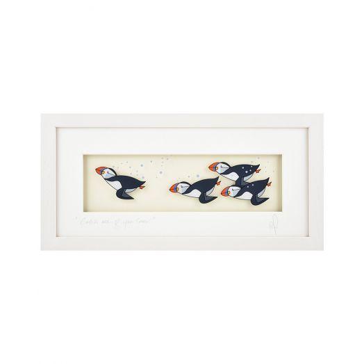Black Hen Designs | Catch Me If You Can Framed Art