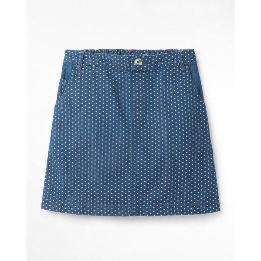 White Stuff | Spot Dot Denim Skirt | Denim
